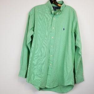 Ralph Lauren Green Blake men's button down shirt